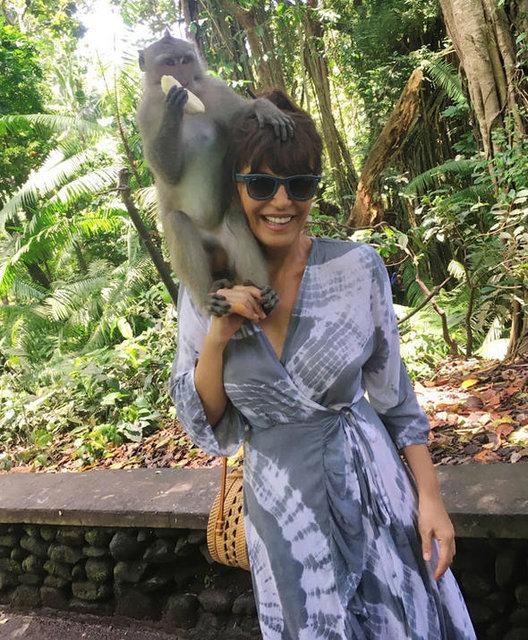 Ayşegül Aldinç, Bali'de ruhunu dinlendirdi